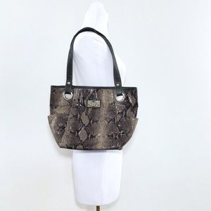 Relic Bags - Relic Faux Snakeskin Shoulder Bag Neutral Browns